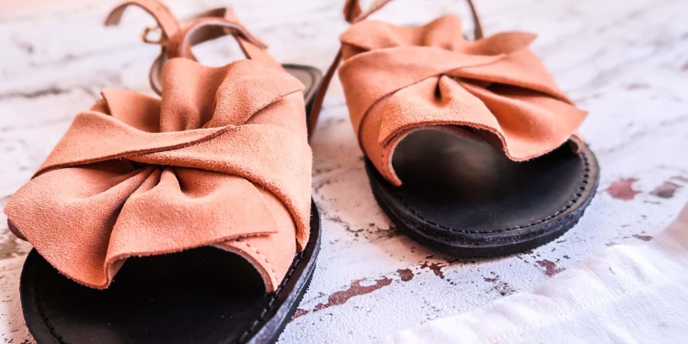 Sandale piele naturala FUNKY B, nude - corai | FUNKYFAIN