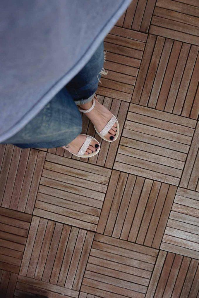 Sandale albe cu platforma alba FUNKY PLATFORM