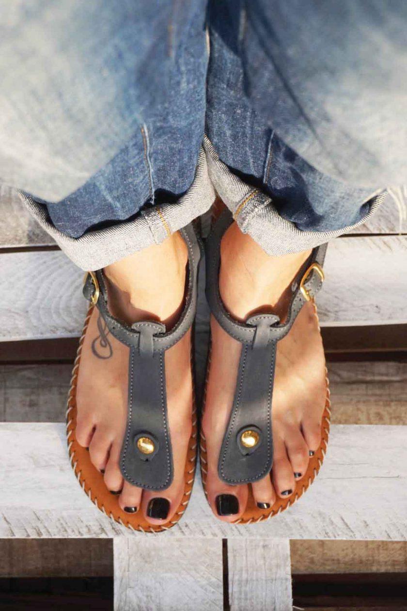 Sandale anatomice FUNKY COMFY, gri | FUNKYFAIN.ro