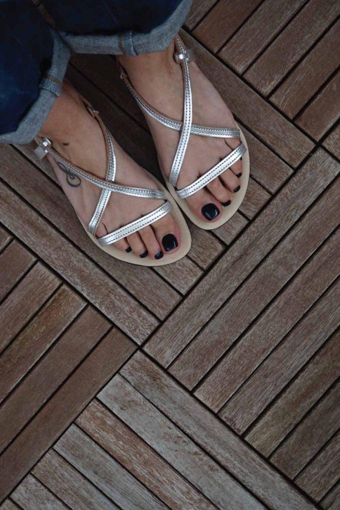 Sandale argintii cu talpa joasa FUNKY GIRL | FUNKYFAIN