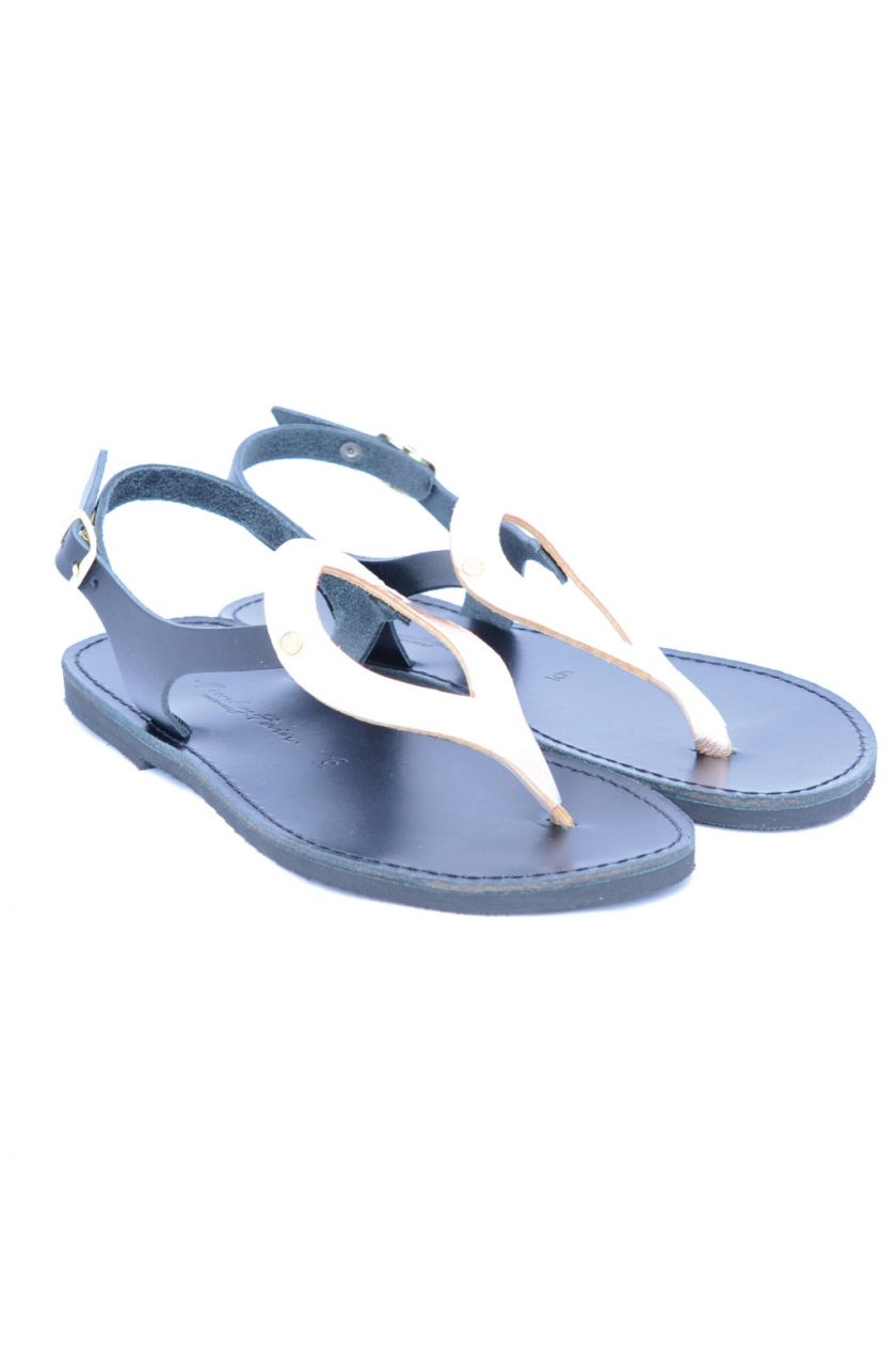 Sandale dama piele FUNKY COLORS, negru - bronz