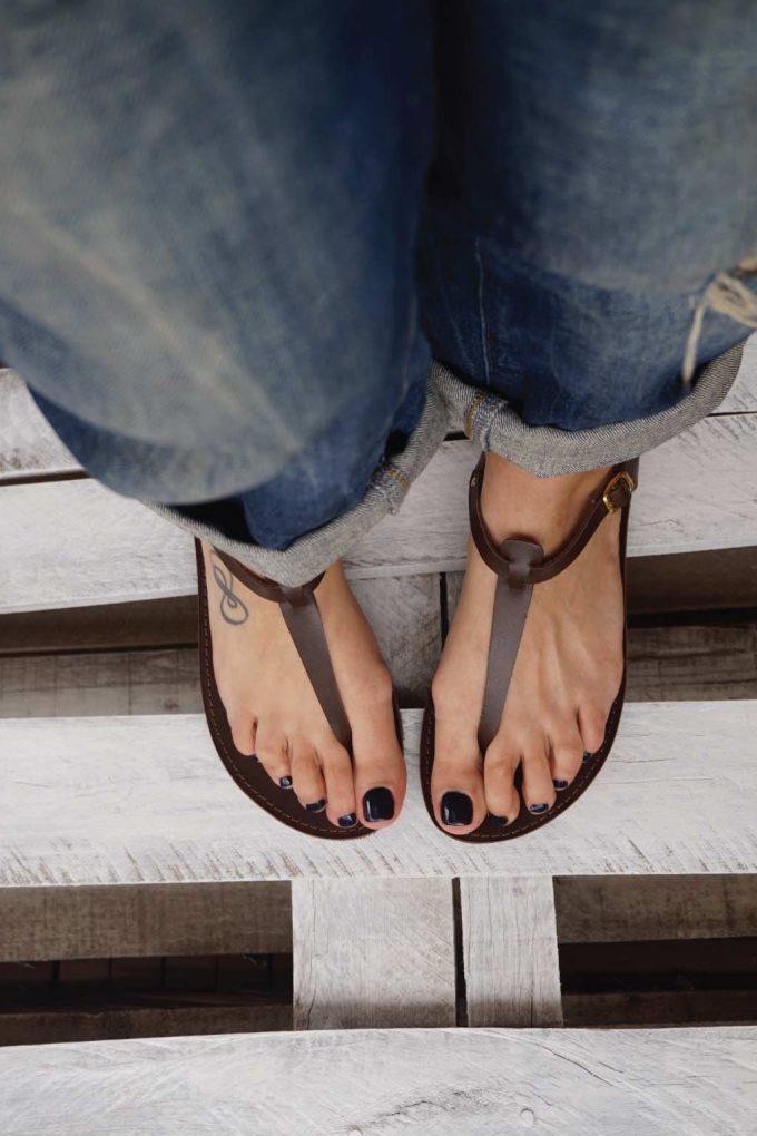 Sandale dama FUNKY ALLNUDE, maro