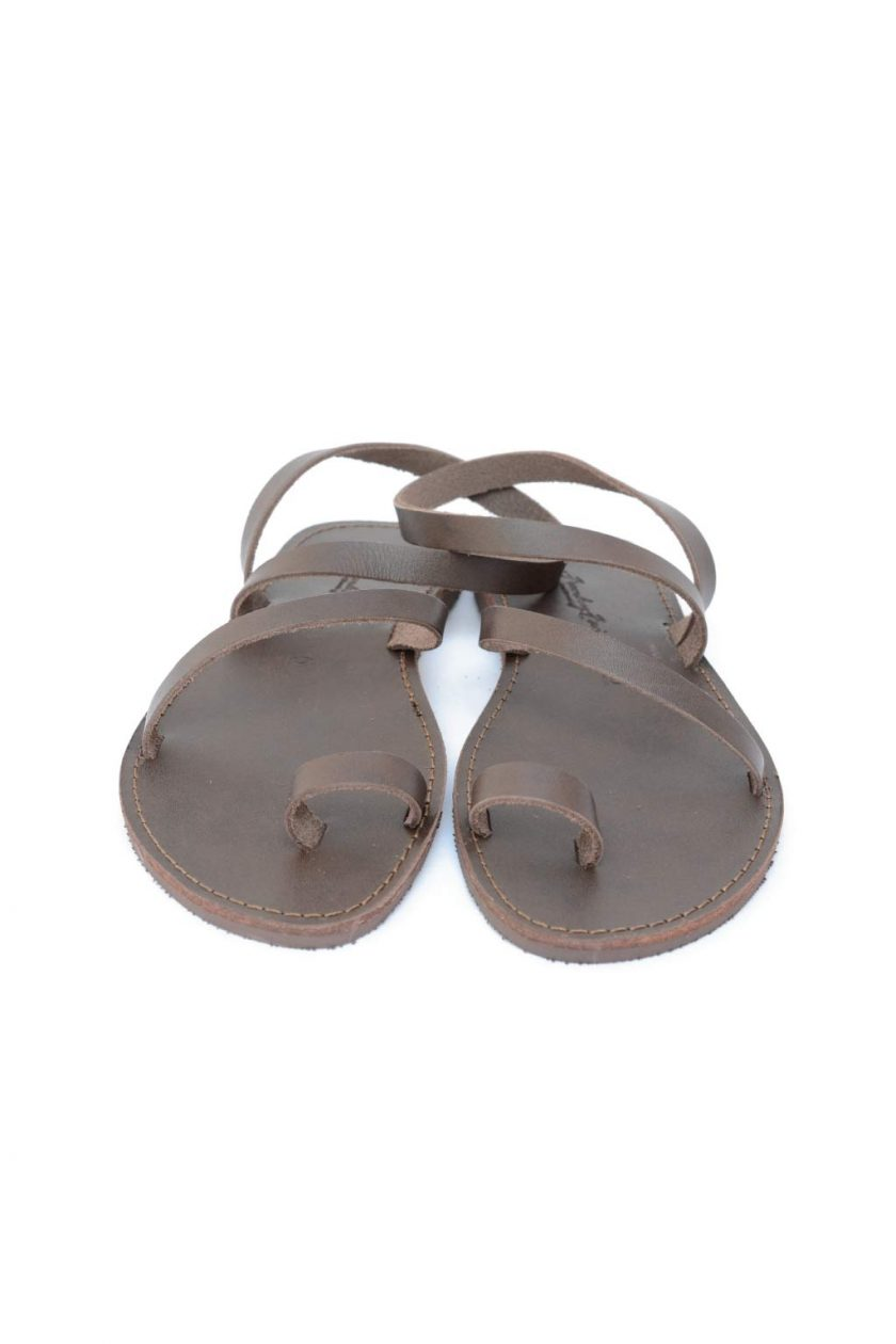 Sandale dama piele naturala FUNKY DAY, maro