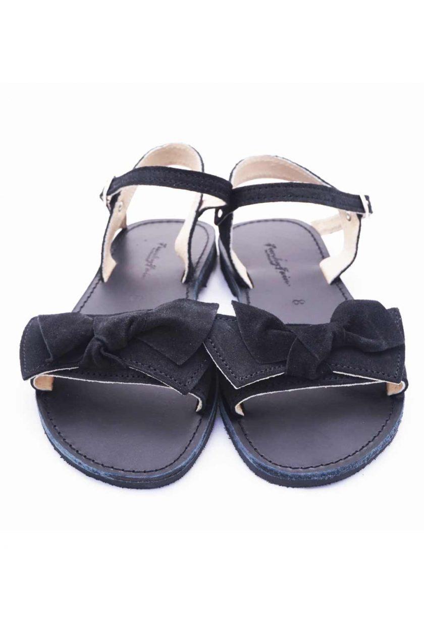 Sandale negre cu funda FUNKY LOVE | FUNKYFAIN