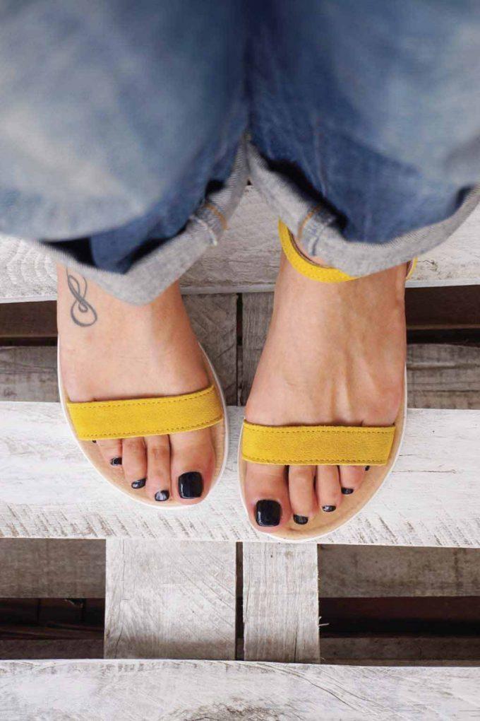 Sandale cu platforma FUNKY PLATFORM, galben