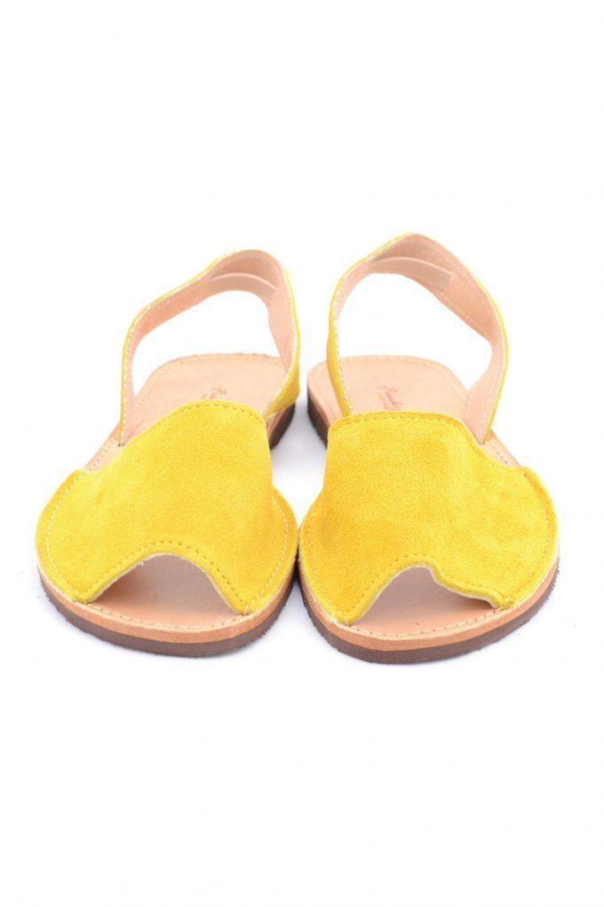 Sandale dama piele naturala FUNKY Q, galben