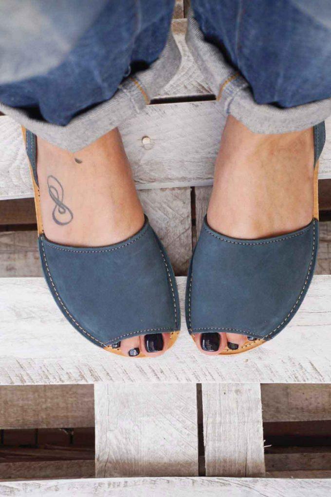 Sandale grecesti FUNKY Q bleumarin | FUNKYFAIN