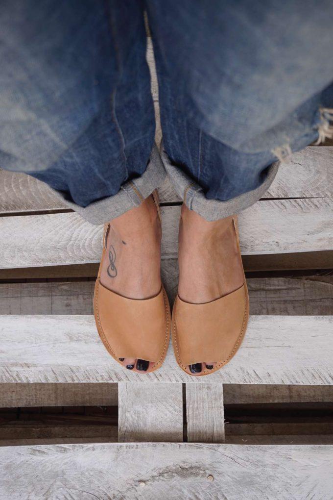 Sandale cu talpa joasa FUNKY Q, crem - bronz