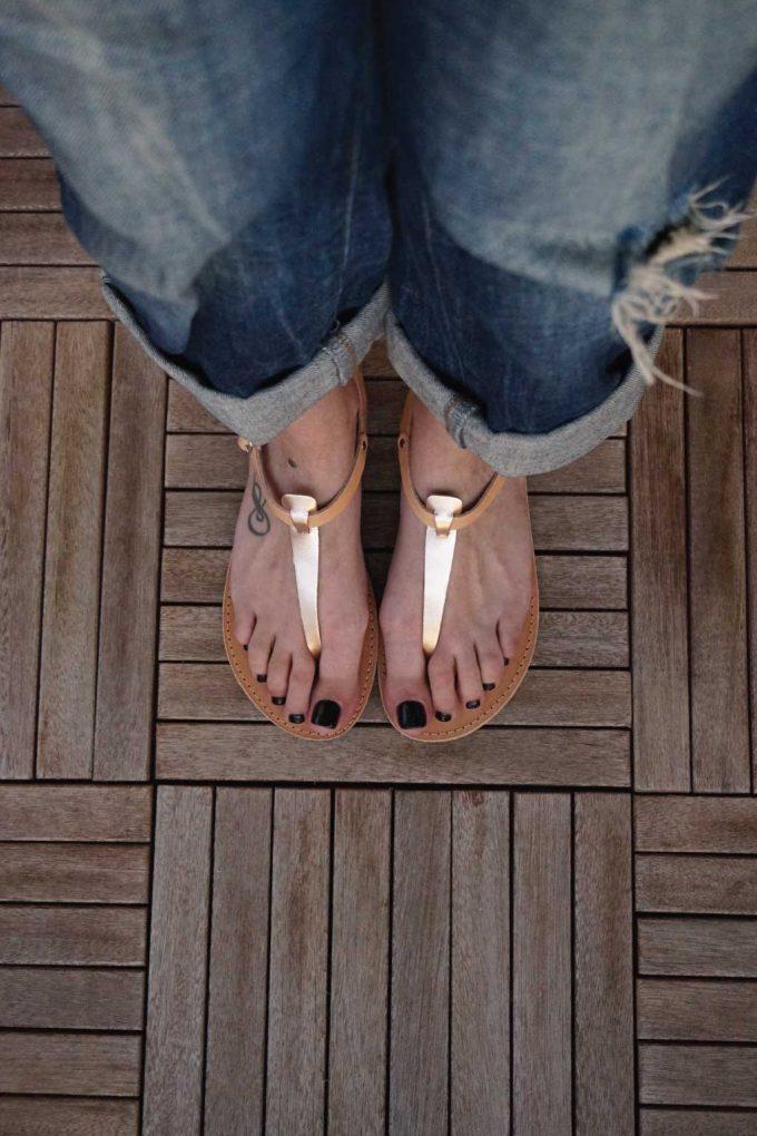 Sandale cu talpa joasa FUNKY ALLNUDE, nude - bronz