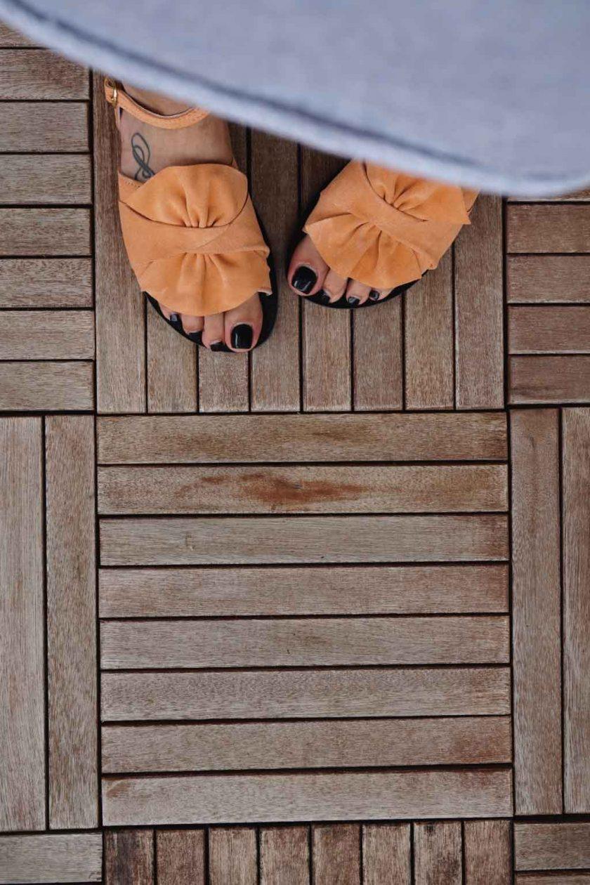 Sandale casual cu funda FUNKY B, nude - corai