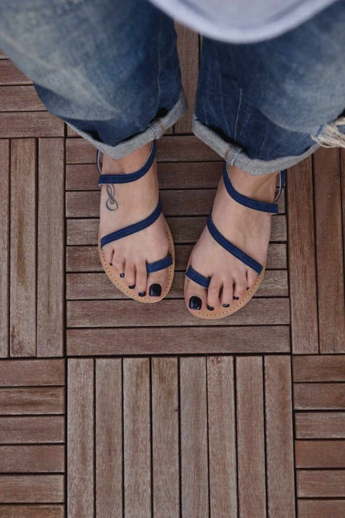 Sandale dama talpa joasa FUNKY DAY, albastru