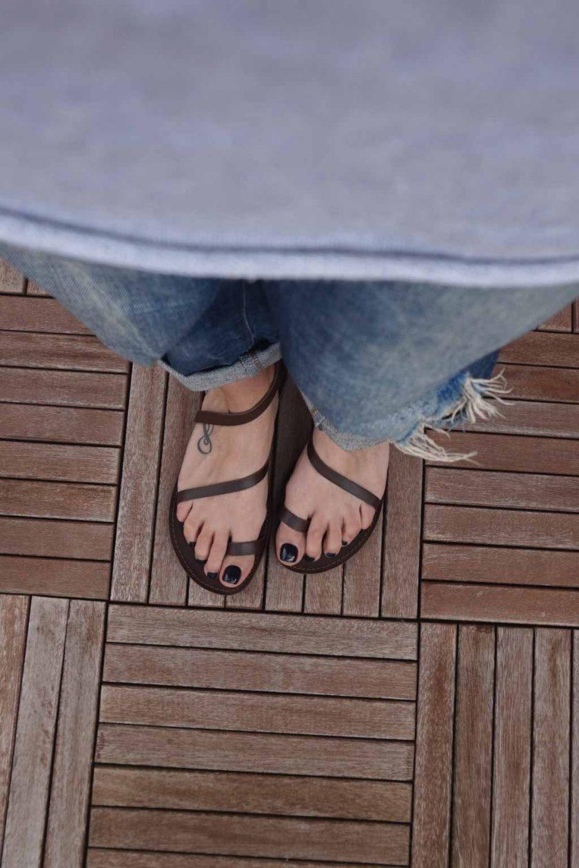 Sandale dama talpa joasa FUNKY DAY, maro