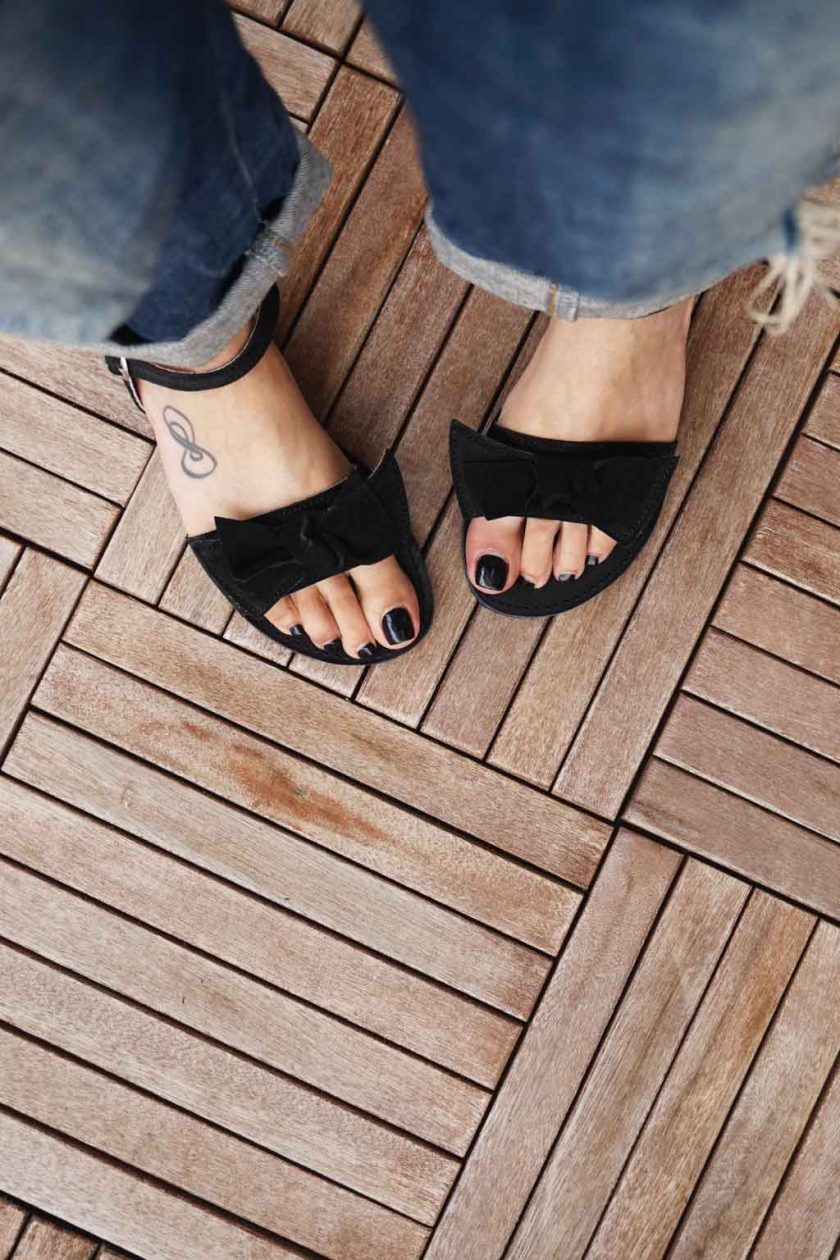 Sandale de dama cu talpa joasa FUNKY LOVE, negru