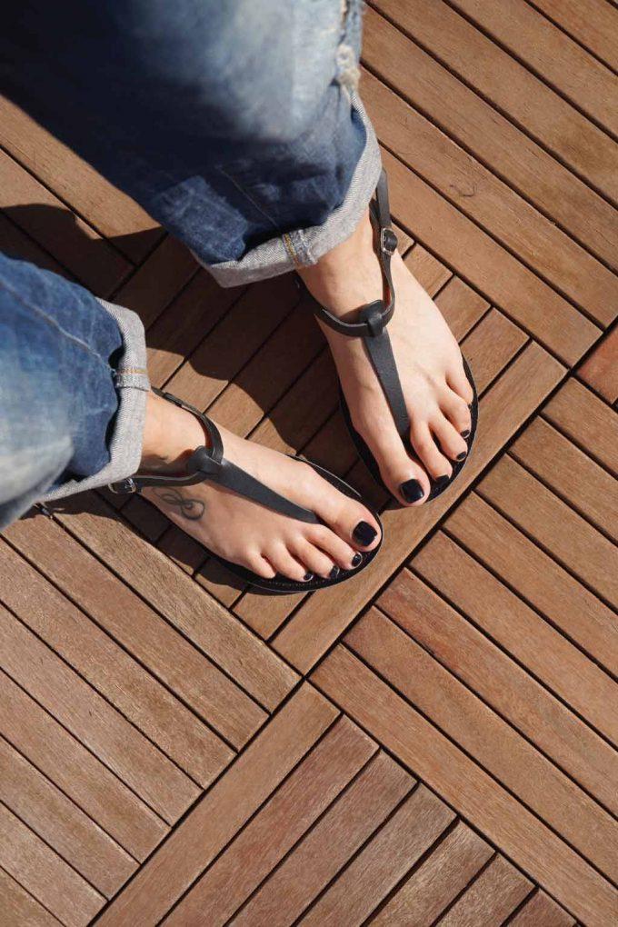 Sandale dama piele naturala FUNKY ALLNUDE, negru