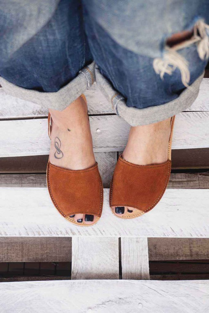 Sandale piele naturala FUNKY Q, maro | FUNKYFAIN
