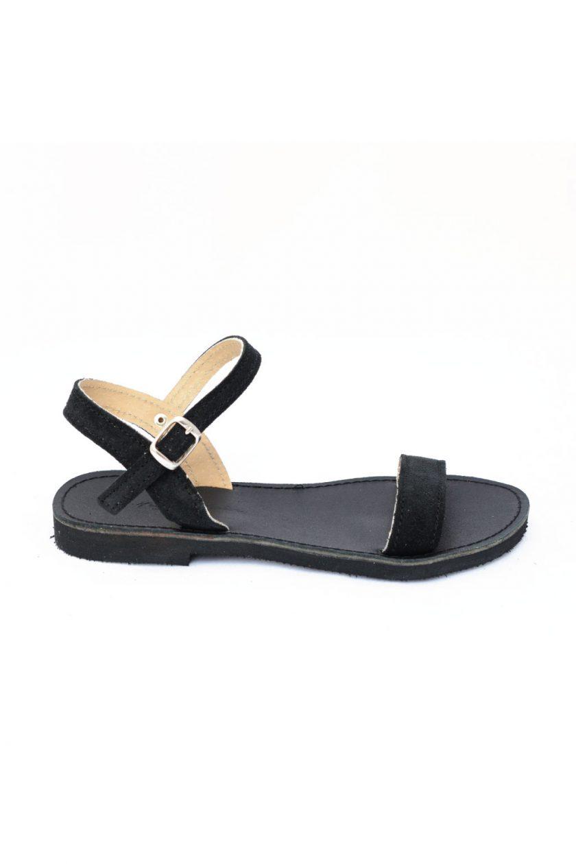 Sandale negre din piele naturala FUNKY CASUAL
