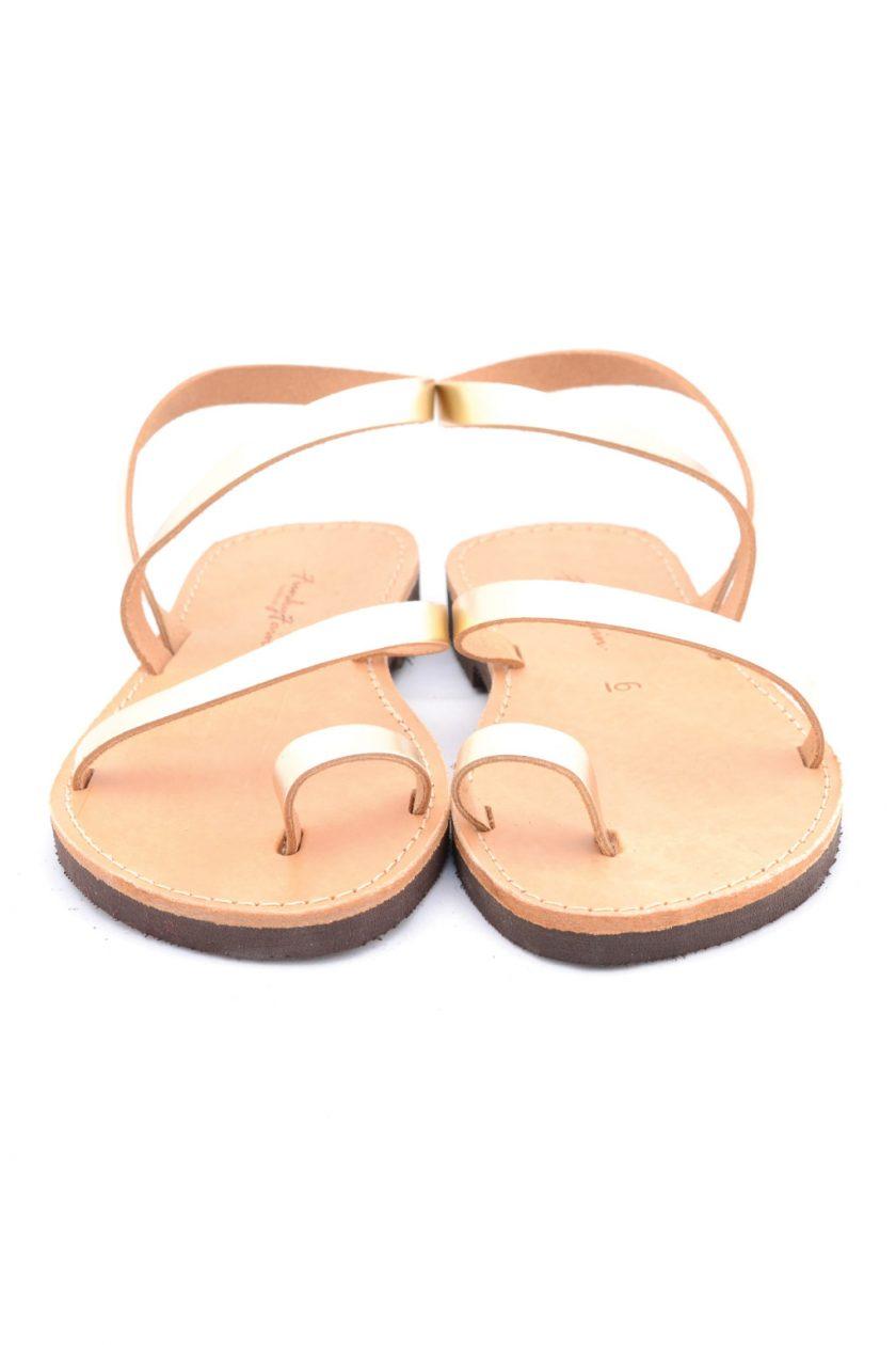 Sandale aurii din piele naturala FUNKY DAY