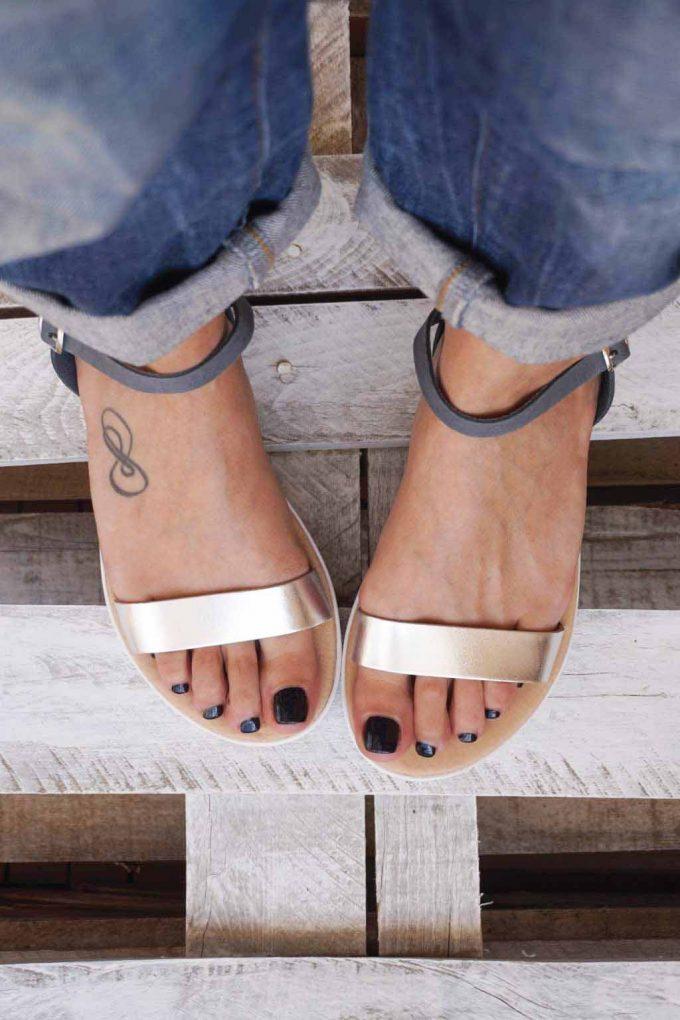 Sandale cu platforma FUNKY PLATFORM, gri - argintiu