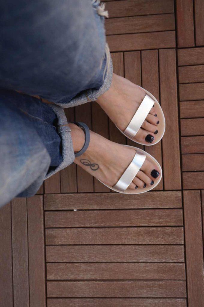 Sandale cu platforma FUNKY PLATFORM, argintiu - gri