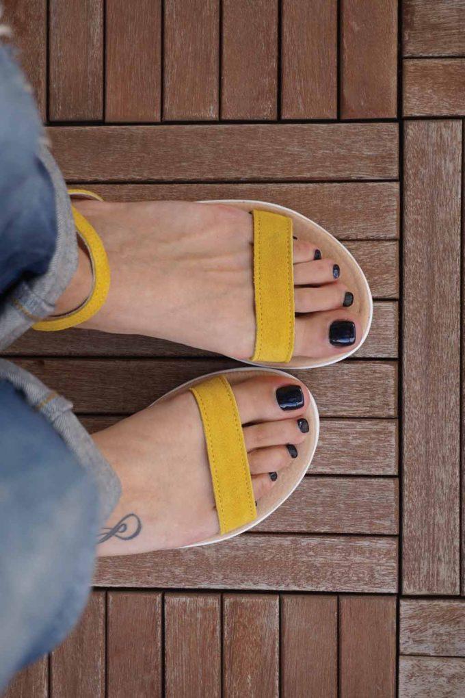 Sandale galbene cu platforma alba FUNKY PLATFORM