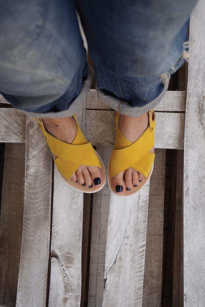 Sandale cu platforma FUNKY X, galben