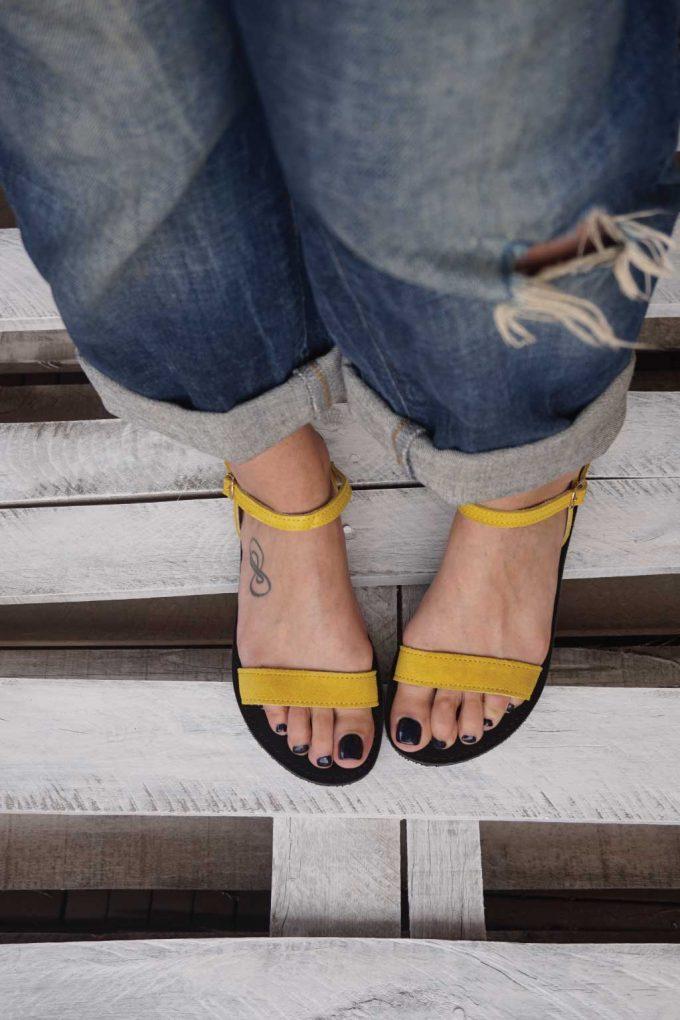 Sandale talpa joasa FUNKY CASUAL, galben