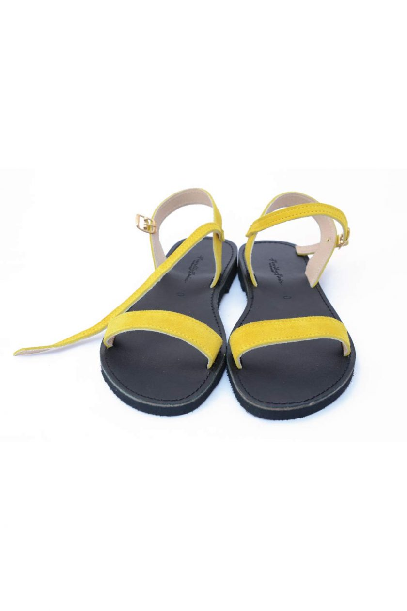 Sandale cu talpa joasa FUNKY CASUAL, galben | FUNKYFAIN