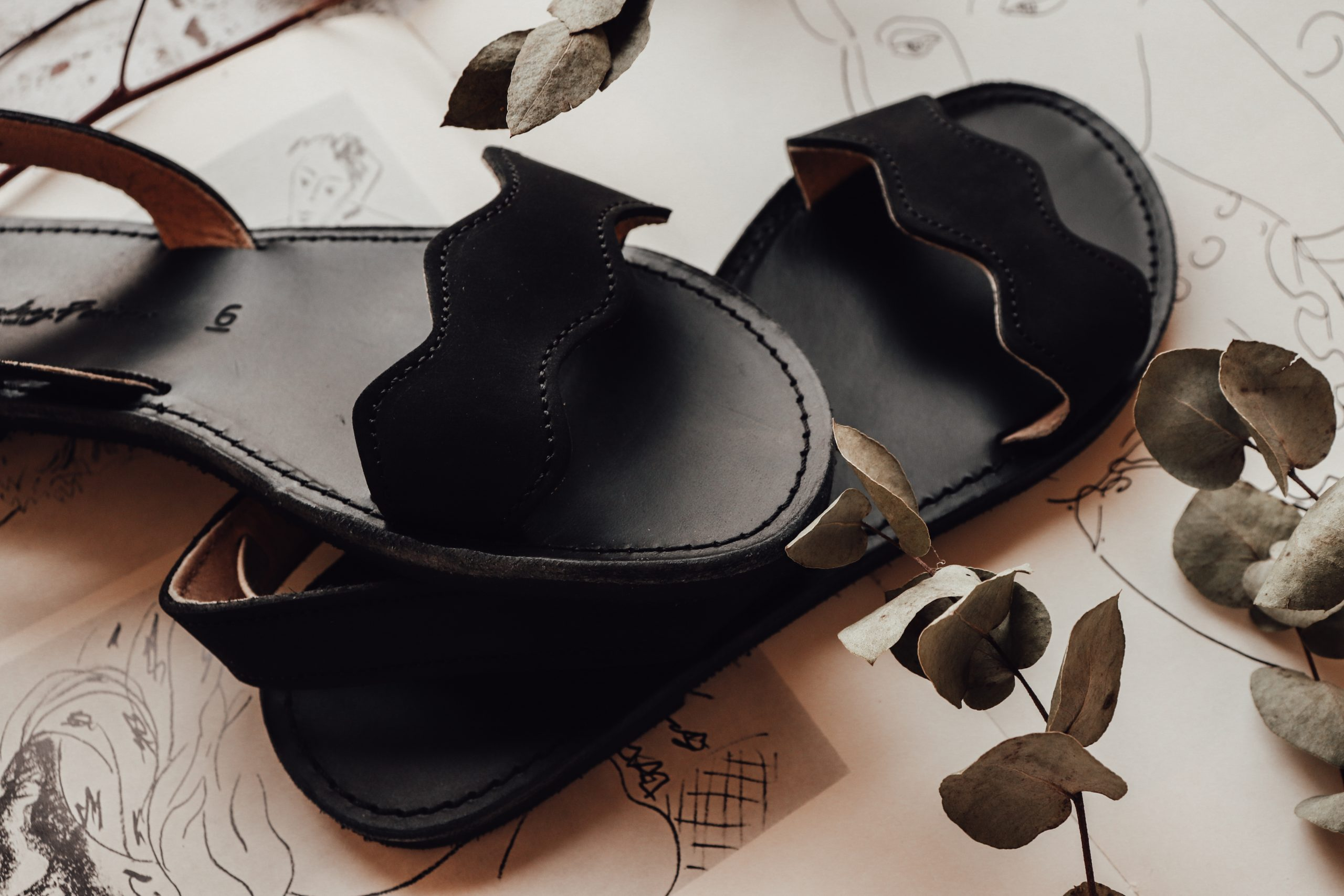 Sandale damă piele naturală FUNKY VIBE, negru