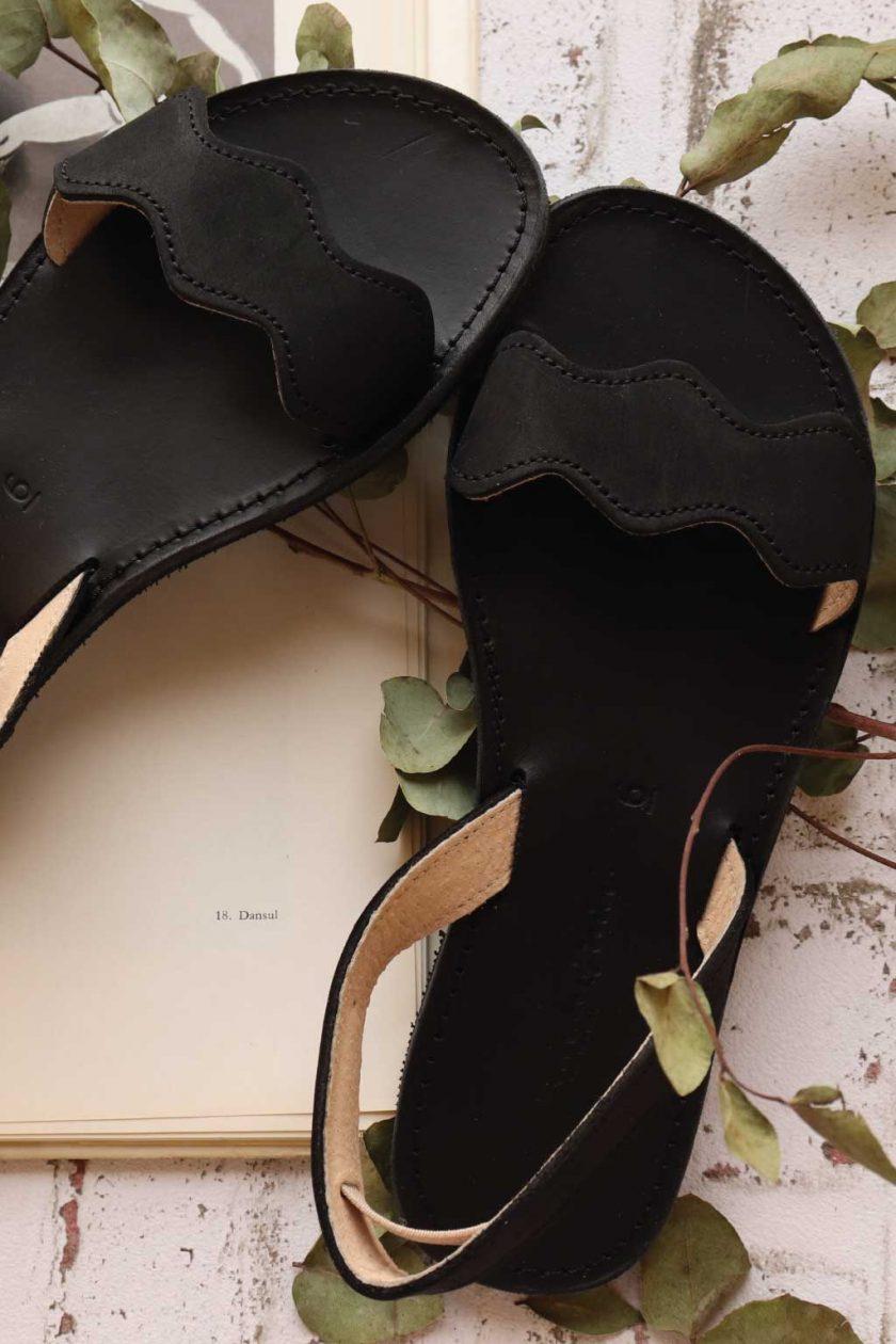 Sandale dama piele naturala FUNKY VIBE, negru
