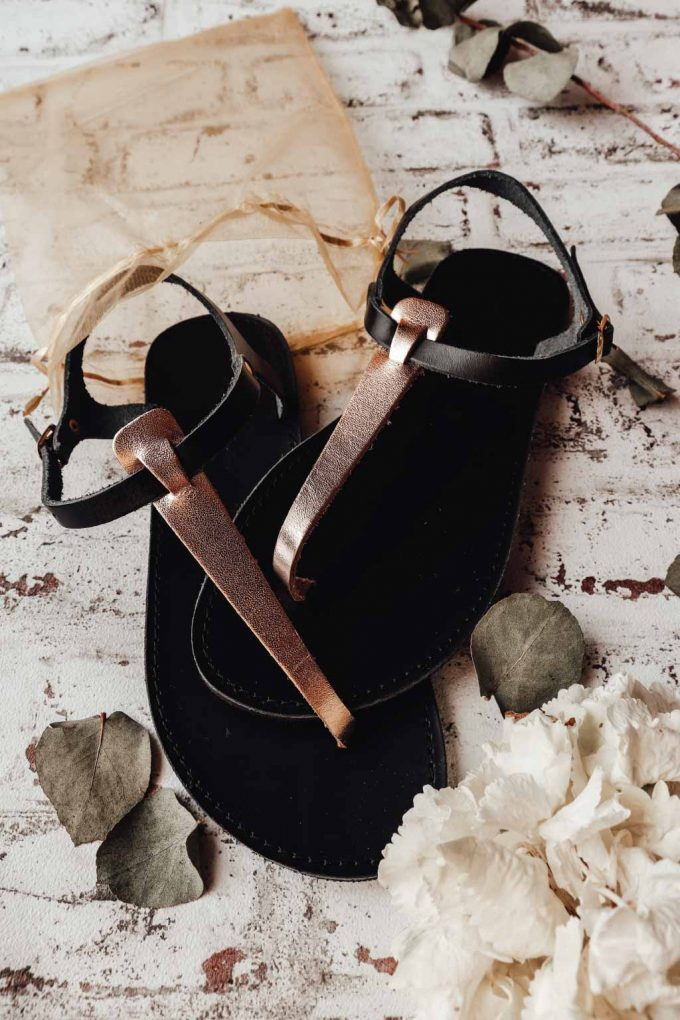 Sandale FUNKY ALLNUDE, negru - bronz