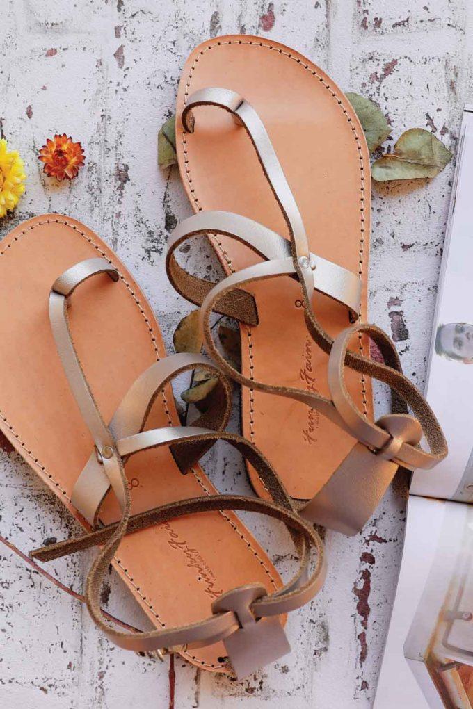 Sandale FUNKY TOUCH, grej metalic