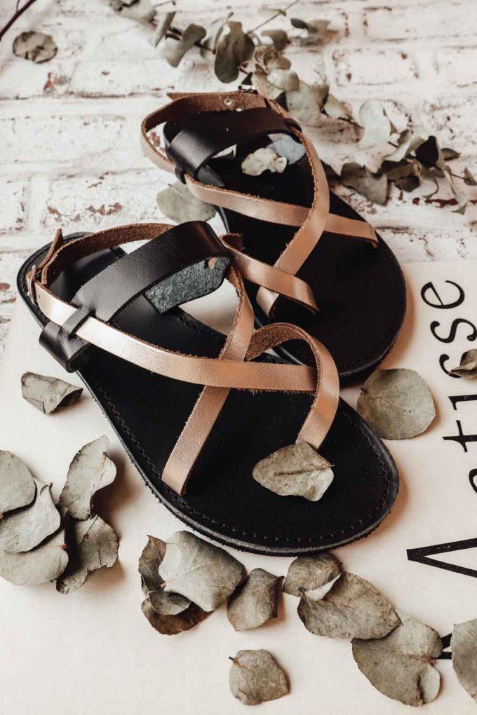 Sandale FUNKY PEOPLE, grej metalic
