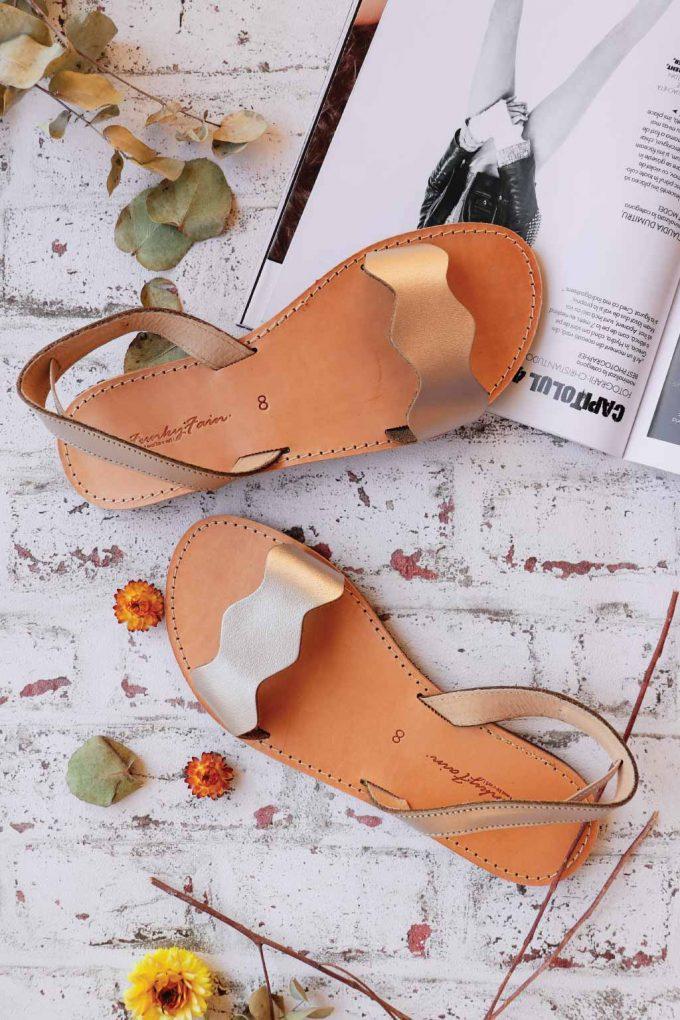 Sandale FUNKY VIBE, grej metalic
